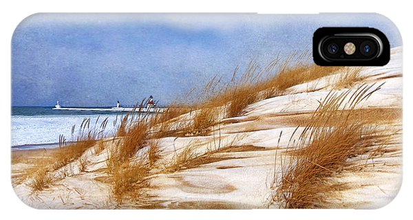 Wintertime St. Joe Lighthouse  IPhone Case