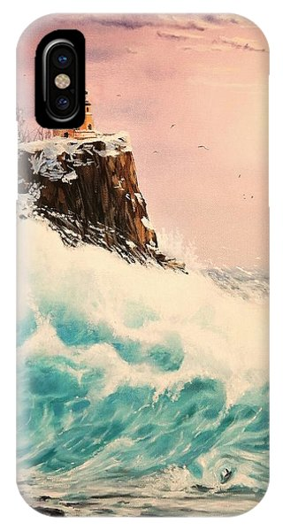 Wintery Northern Lighthouse  IPhone Case