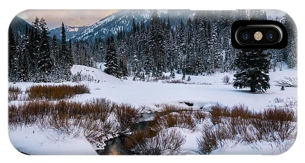 Wintery Wasatch Sunset IPhone Case