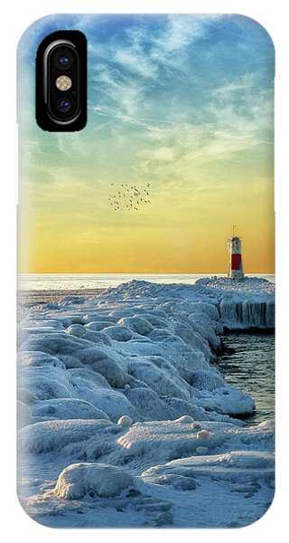 Wintry River Channel IPhone Case