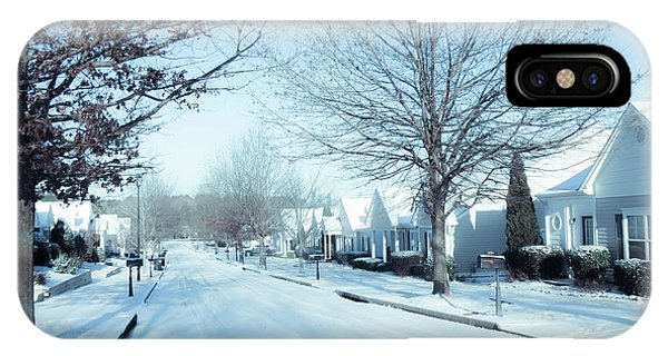 Wintry Snow Fall - Georgia IPhone Case