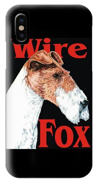Wire Fox Terrier IPhone Case