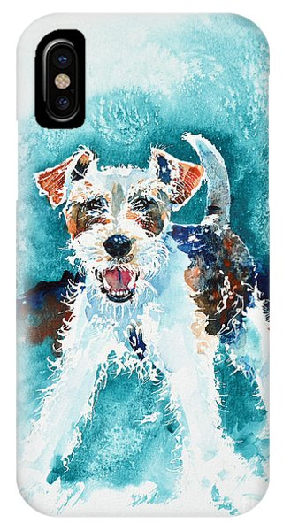 Wire Fox Terrier IPhone Case