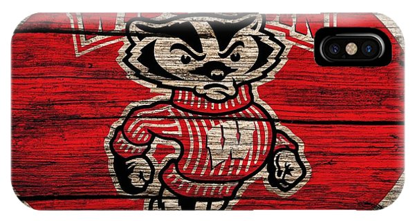 Wisconsin Badgers Barn Door IPhone Case