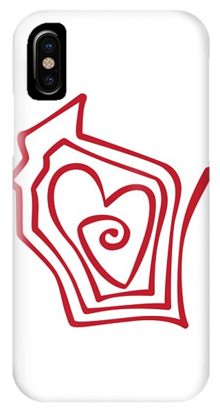Wisconsin Drawn IPhone Case