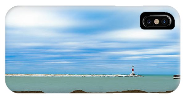 IPhone Case featuring the photograph Wisconsin Winter Lakefront by Steven Santamour