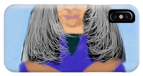 The Art Of Gandy iPhone Case - Wisdom Love And Patience by Joan Ellen Gandy