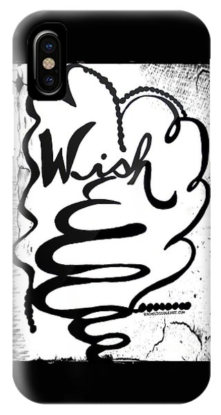 IPhone Case featuring the drawing Wish by Rachel Maynard