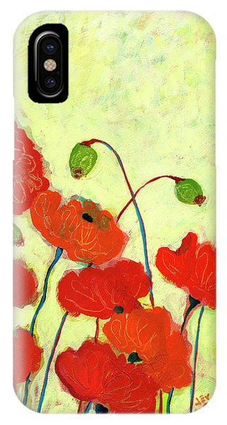 Poppies iPhone Case - Wishful Blooming by Jennifer Lommers