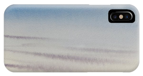 Wisps Of Clouds At Sunset Over A Calm Bay IPhone Case