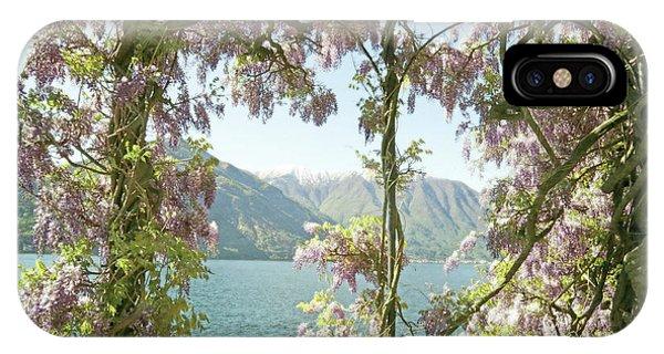 Wisteria Trellis Lago Di Como IPhone Case