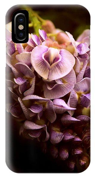 Dark Violet iPhone Case - Wisteria Whisper by Jessica Jenney