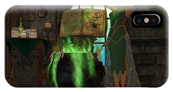Voodoo iPhone Case - Witch Cauldron by Corey Ford