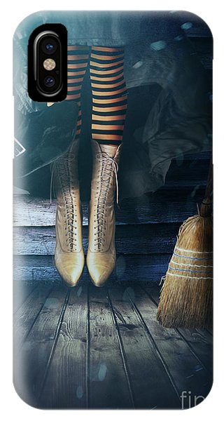 Witch's Legs With Broom IPhone Case