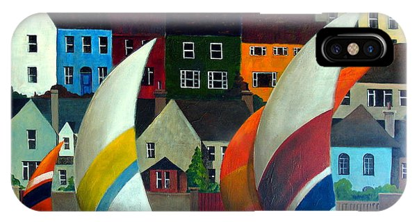 With The Wind In Kinsale, West Cork IPhone Case