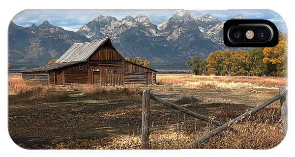 Teton iPhone Case - Withstanding The Test Of Time by Sandra Bronstein