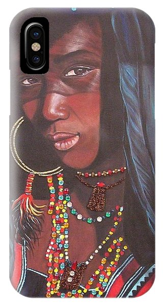 Blue Cat Productions             Wodaabe Girl IPhone Case