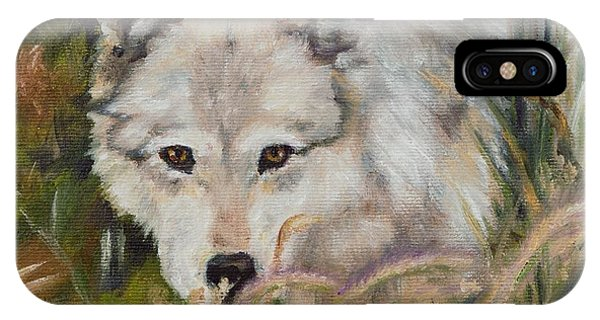 Wolf Among Foxtails IPhone Case