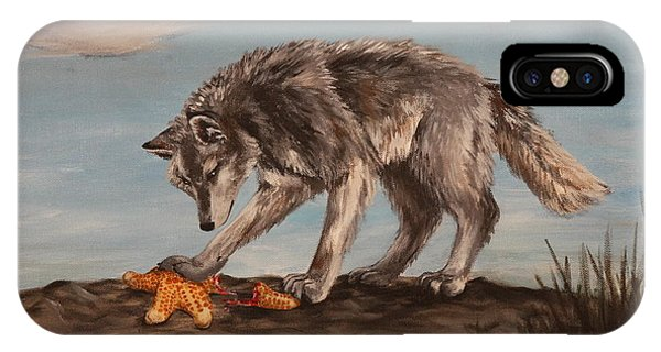Wolf And Sea Star IPhone Case