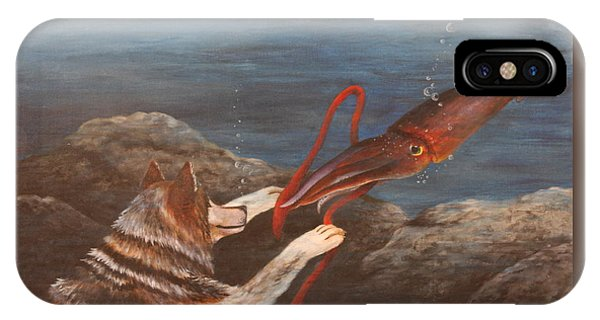Wolf And Squid IPhone Case