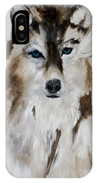 Wolf - Blue Star IPhone Case