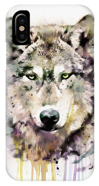 Wolf iPhone Case - Wolf Head by Marian Voicu