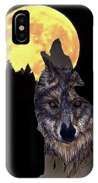 Wolf Howling At The Moon IPhone Case