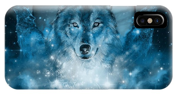 Wolf In Blue IPhone Case