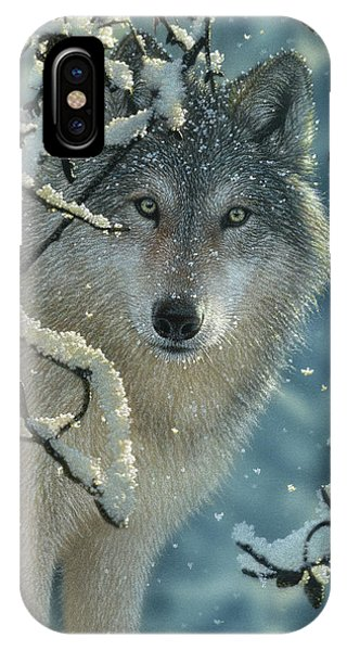 Wolf In Snow - Broken Silence IPhone Case