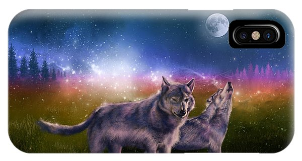 Wolf In The Moonlight IPhone Case