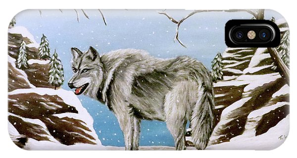 Wolf In Winter IPhone Case