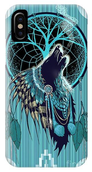 Wolf Indian Shaman IPhone Case