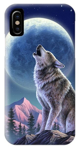 Moon iPhone Case - Wolf Moon by Jerry LoFaro