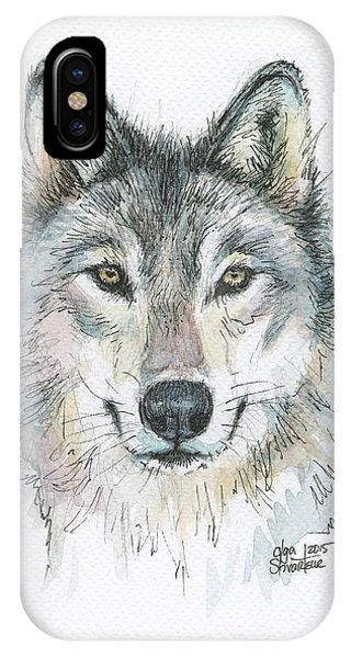 Wolf iPhone Case - Wolf by Olga Shvartsur