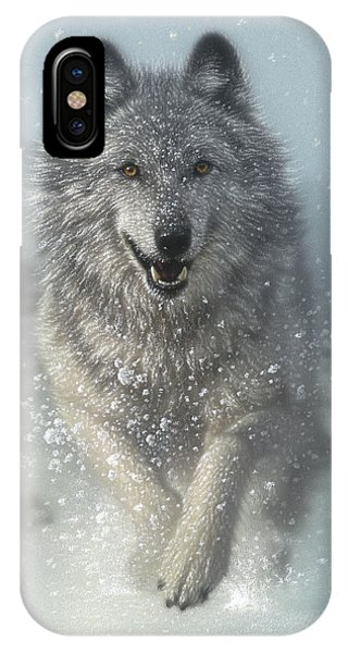Wolf Pack Running - Snow Plow IPhone Case