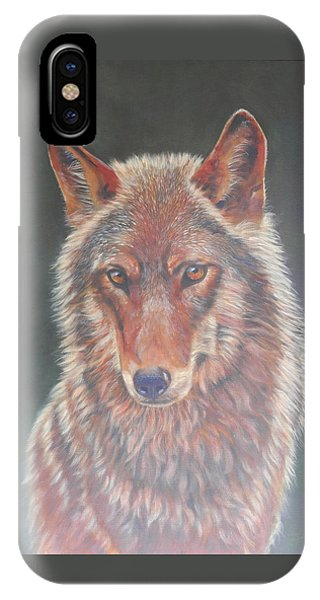 Wolf Portrait IPhone Case