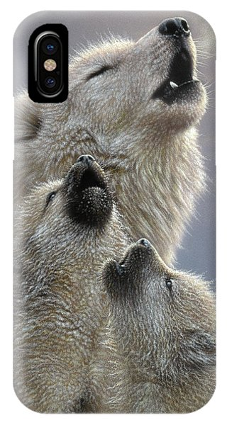 Wolf Pups Howling - Singing Lesson IPhone Case