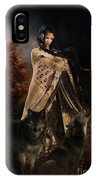 iPhone Case - Wolf Song by Shanina Conway