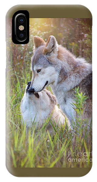 Wolf Soul Mates IPhone Case