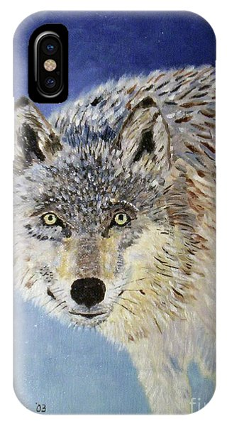 Wolf Study IPhone Case