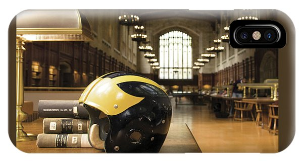 Wolverine Helmet In Law Library IPhone Case