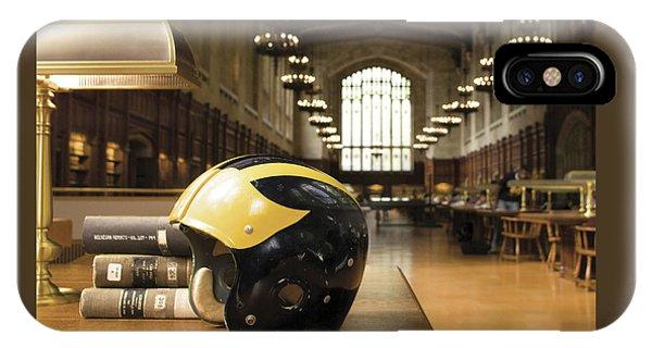 Wolverine Helmet In Law Library IPhone Case