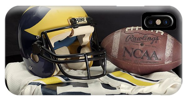 Wolverine Helmet With Jersey And Football IPhone Case