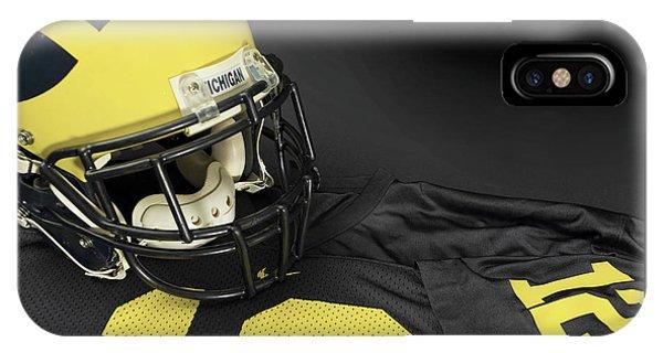 Wolverine Helmet With Jersey IPhone Case