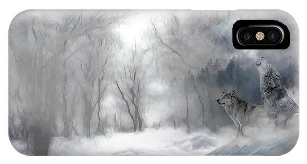 Wolves In The Mist IPhone Case