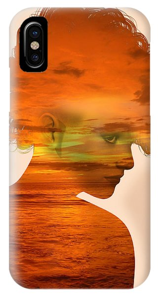 Woman And A Sunset IPhone Case