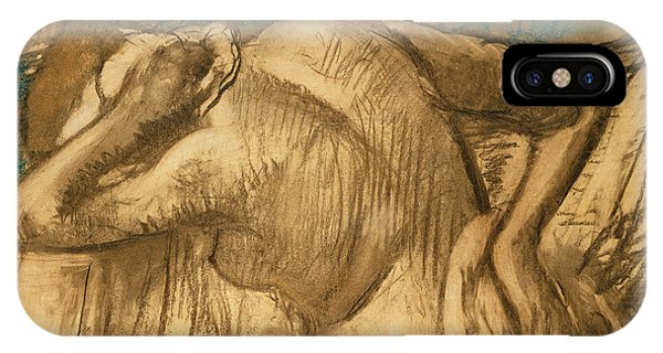 Quick iPhone Case - Woman At Her Toilet by Edgar Degas