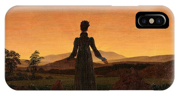 Sonne iPhone Case - Woman Before The Rising Sun by Caspar David Friedrich