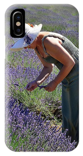 Woman Collects Lavender IPhone Case