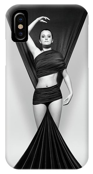 Proud iPhone Case - Woman Draped In Black Cloth by Johan Swanepoel